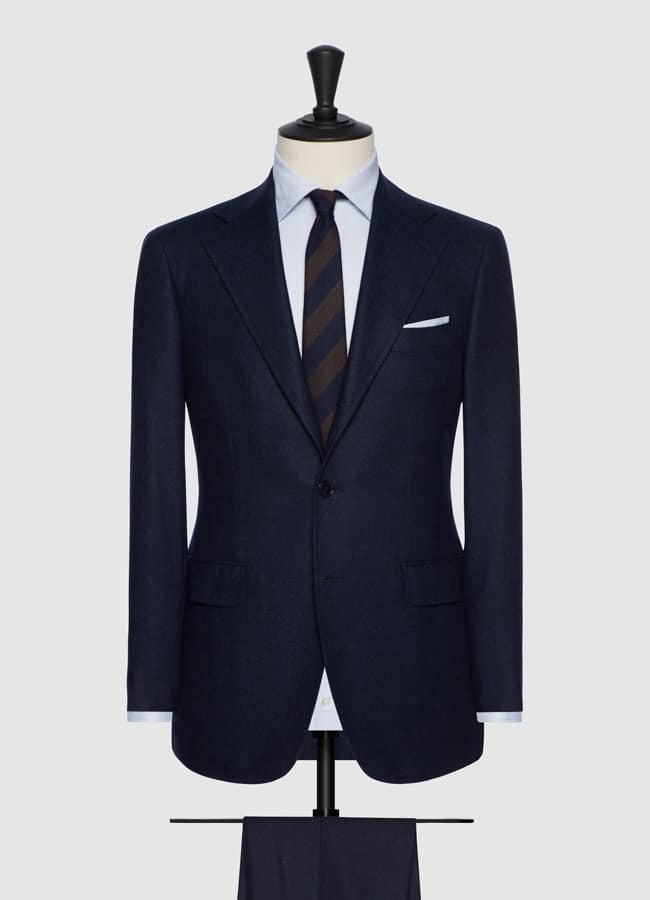 Mixed blue faux uni wool suit