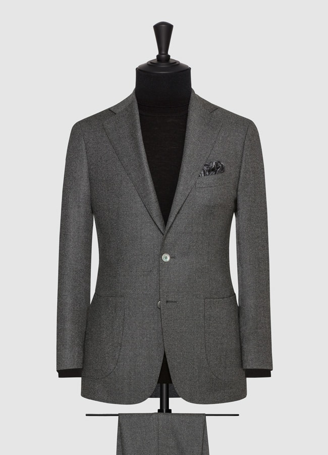 Dark grey faux uni wool suit