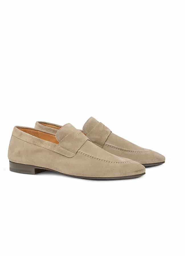 Penny loafer light suede taupe