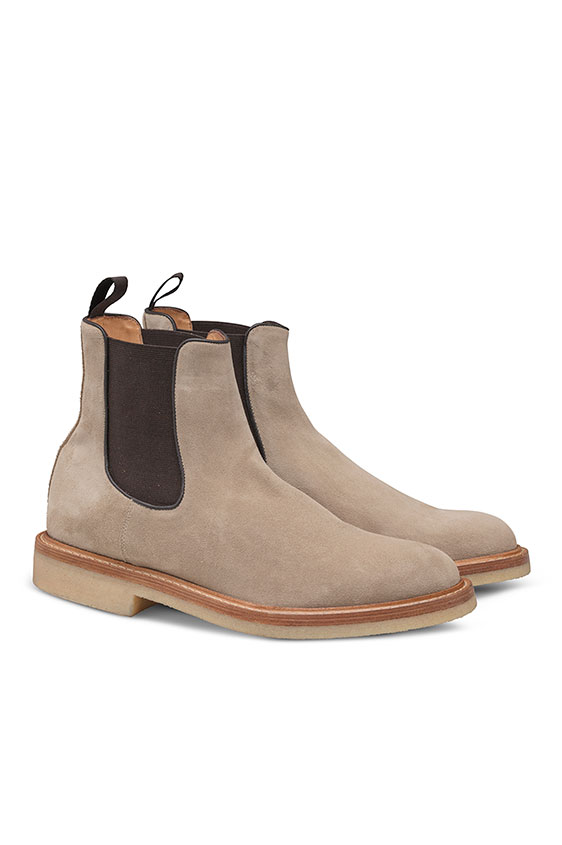 Chelsea boot suede light beige