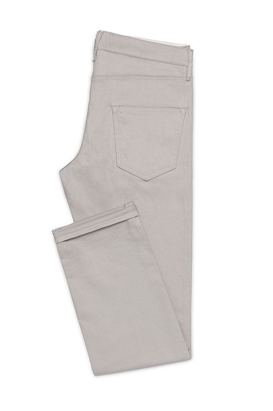 Light grey twill stretch chinos