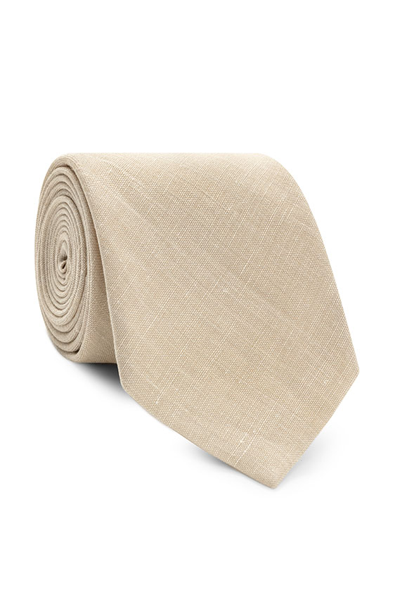 Sand textured linen-wool-silk tie