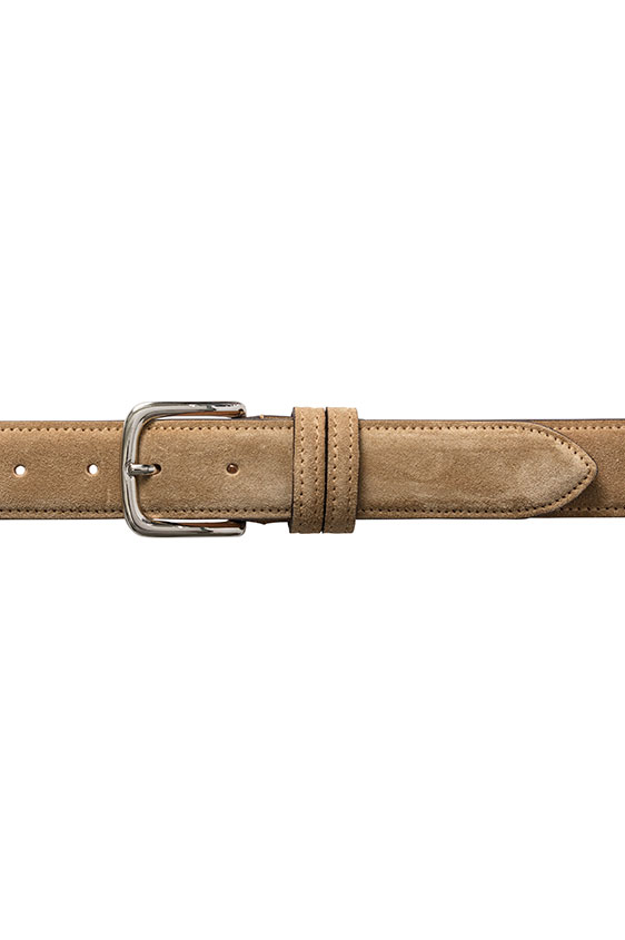 Summer suede camel belt